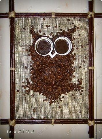 сова из кофейных зерен (6) (354x480, 144Kb)