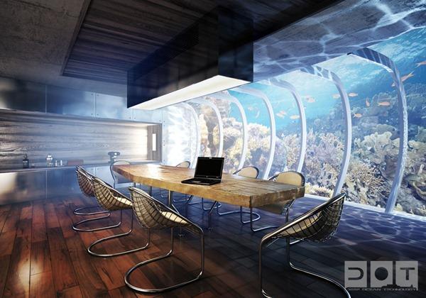Роскошный подводный отель на Мальдивах