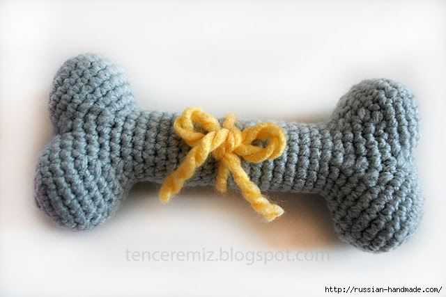 Амигурами. Косточка крючком - игрушка для собачки (2) (640x427, 142Kb)