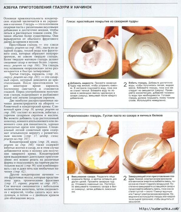 Как делать сахарную глазурь в домашних условиях