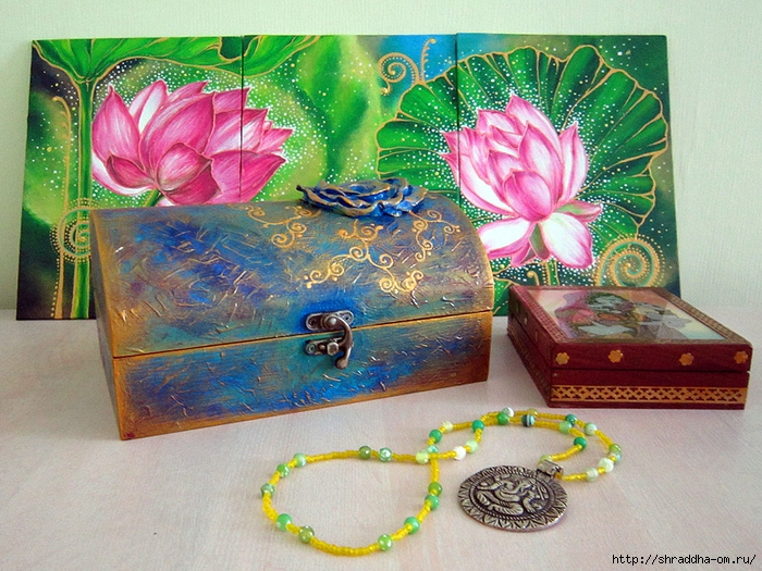 сундук с розой, автор Shraddha, 01 (700x525, 370Kb)