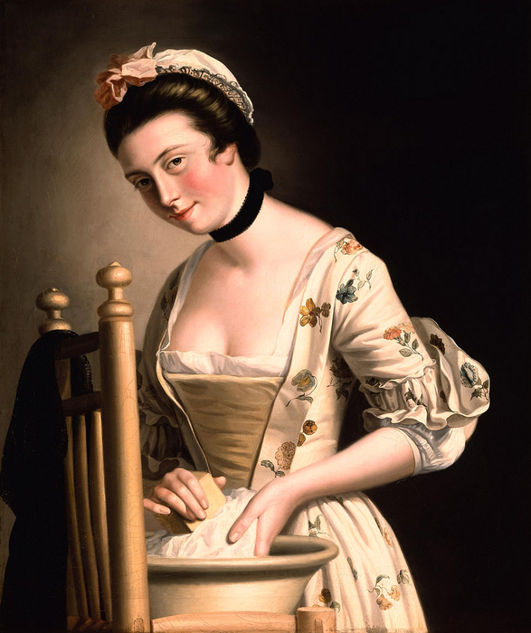 A_Woman_doing_Laundry_by_Henry_Robert_Morland (587x700, 325Kb)