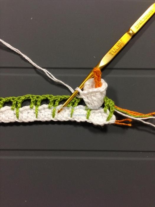 Цветочная обвязка края крючком. КАЛЛЫ (6) (525x700, 211Kb)