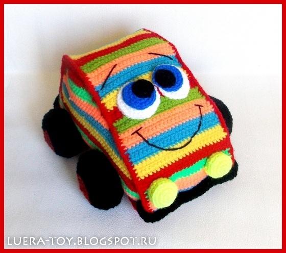 как связать игрушку машинку для мальчика. мастер-класс (7) (560x496, 241Kb)