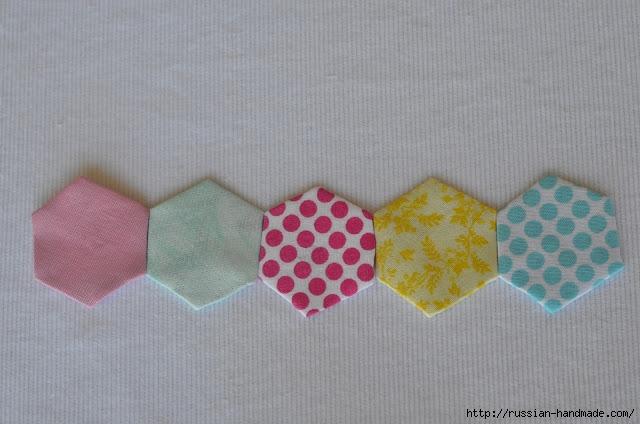Урок лоскутного шитья. Цветочек из шестиугольников для аппликации (12) (640x424, 159Kb)