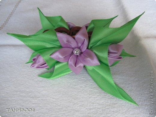 лилии из лент мастер-класс (42) (520x390, 98Kb)