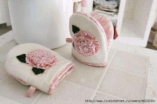 Прихватки рукавицы из ткани с выкройками