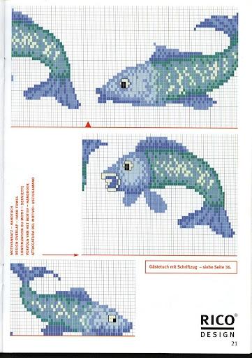 Дельфины на банном полотенце. Вышивка крестиком (2) (361x512, 151Kb)