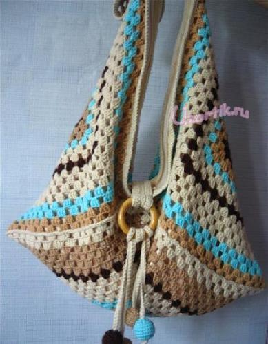 <вязание крючком схемы сумки