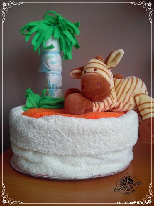 Замечательные подарки для новорожденного из памперсов! (10) (525x700, 265Kb)