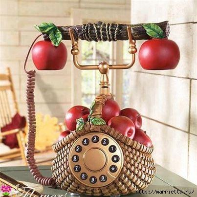 Фруктовый телефон из газетных трубочек (1) (403x403, 110Kb)