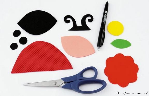 Как своими руками сделать яркие игрушки для малыша. Из вешалки, половников и фоамирана (5) (575x373, 90Kb)
