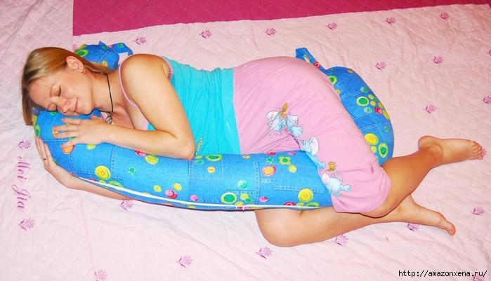 Как сшить подушку для кормления малыша. Выкройка подушки для кормления (8) (700x401, 222Kb)