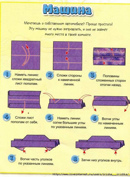 """8 простых схем...   """"Часть 1. Карандашики-закладки для книг в технике оригами.  Оригами Лодочка-корзинка."""