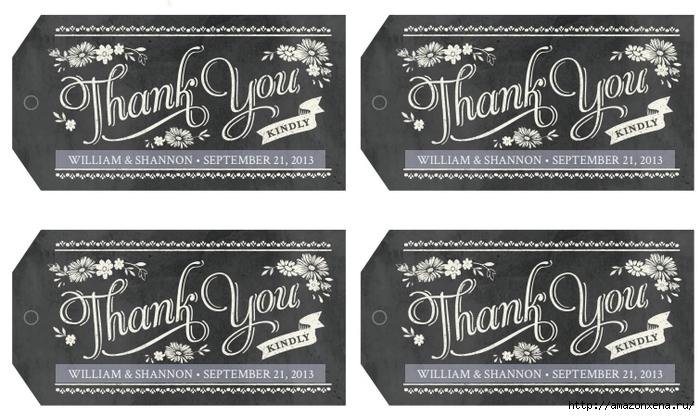 Благодарственные теги для подарка. Шаблоны на английском для распечатки (2) (700x416, 237Kb)