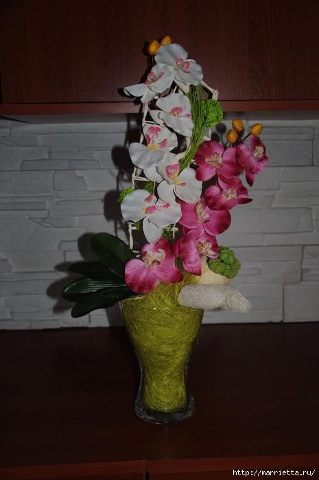 Орхидеи из ткани. МАСТЕР-КЛАСС (9) (465x700, 202Kb)