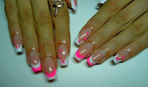 Красивый дизайн ногтей френч фото