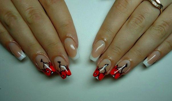 дизайн ногтей простые рисунки: