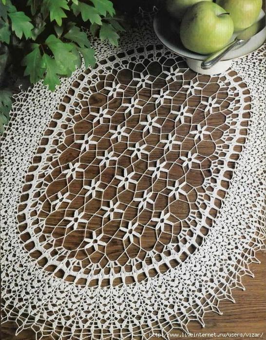 10 Crochet-Lace Doily oval (546x700, 435Kb)