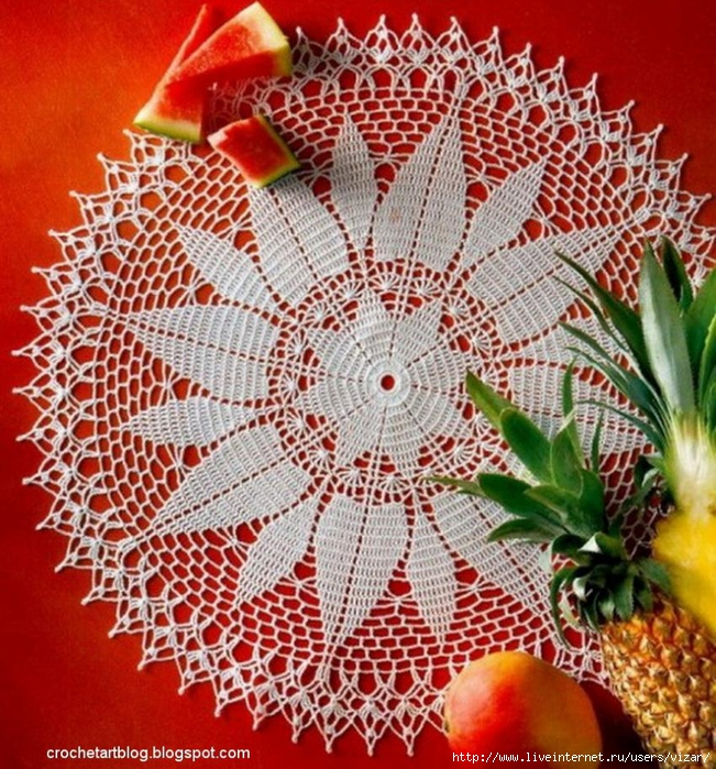 flower crochet doily (651x700, 443Kb)