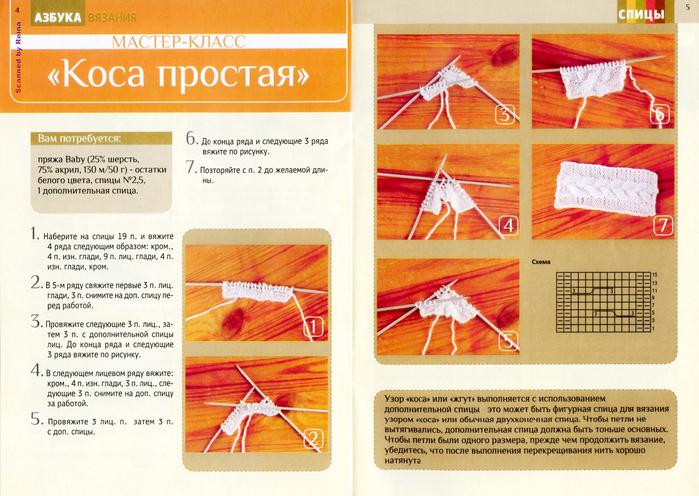 Вязание спицами с рисунками мастер класс