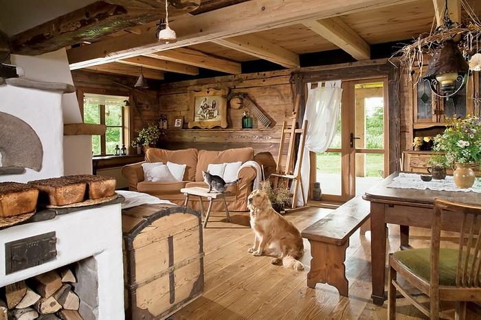 Дизайн деревянного дома внутри своими руками