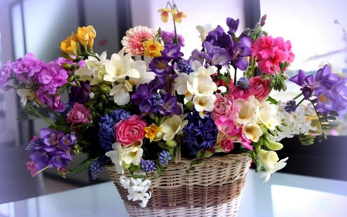 цветы в корзине картинки