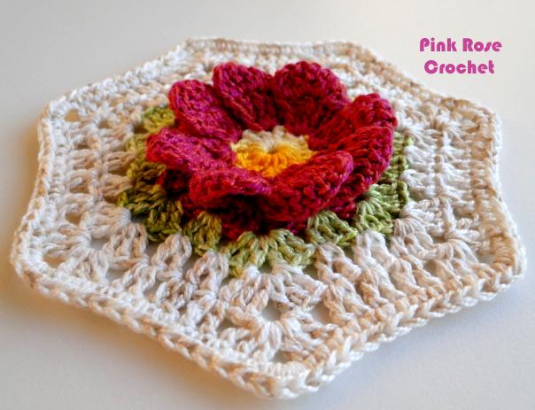 Цветочный фрагмент крючком для вязания салфетки. Схема (4) (604x463, 435Kb)