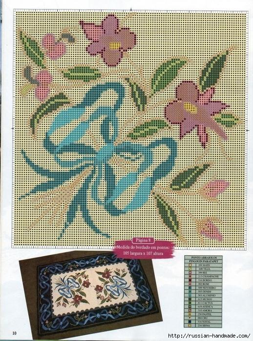 Коврики своими руками в технике ковровой вышивки. СХЕМЫ (6) (518x699, 433Kb)