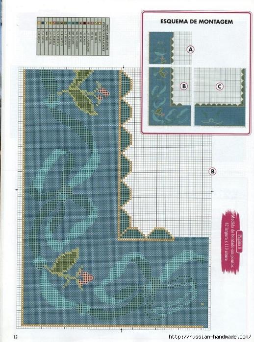 Коврики своими руками в технике ковровой вышивки. СХЕМЫ (8) (518x699, 326Kb)