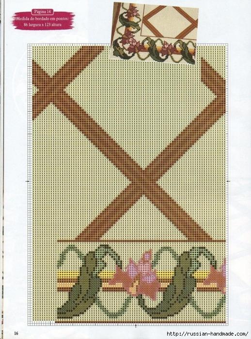 Коврики своими руками в технике ковровой вышивки. СХЕМЫ (10) (518x699, 383Kb)