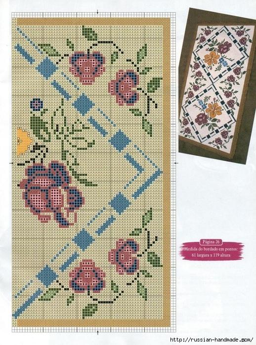 Коврики своими руками в технике ковровой вышивки. СХЕМЫ (18) (518x699, 385Kb)