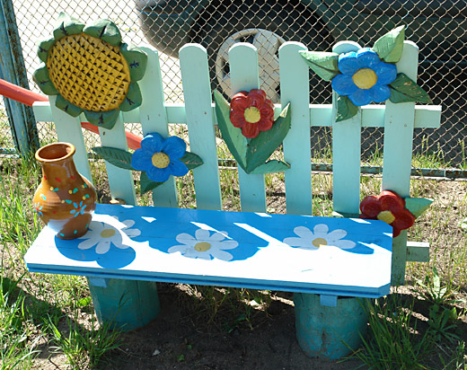 Украшение детских площадок своими руками в детском саду