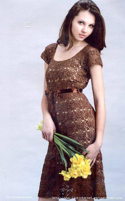 платья вязаного крючком