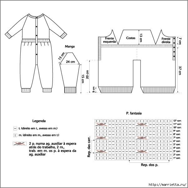 Вязание для детей. Теплый комбинезончик на ребенка от 3 до 6 месяцев (1) (602x602, 117Kb)