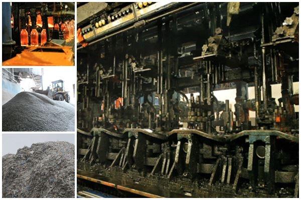 Как перерабатывают бутылочное стекло на заводе в Нью Джерси Фотографии