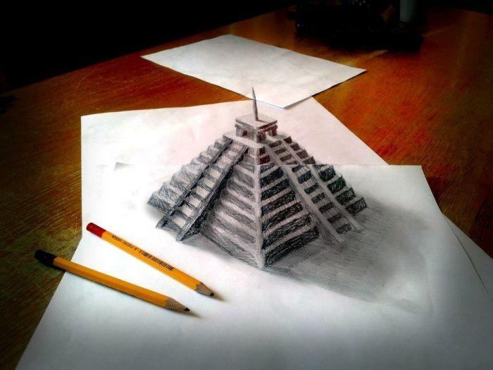 Как сделать 3 д рисунков