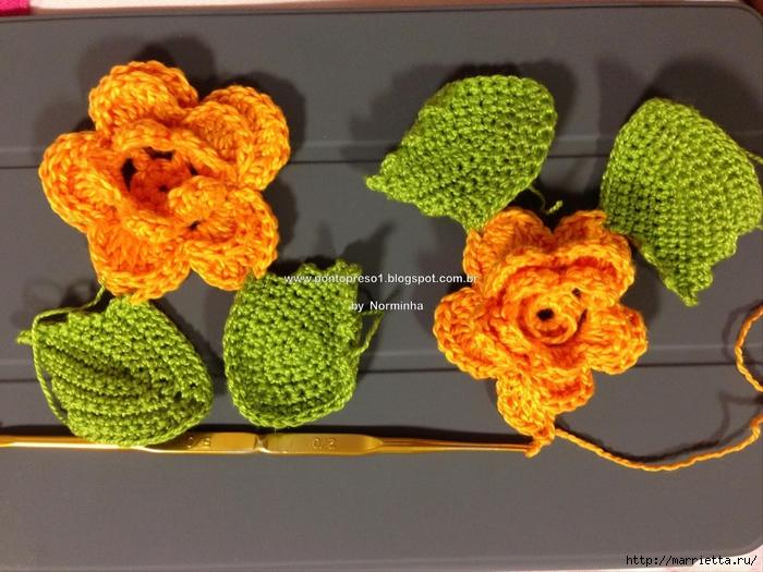 Как связать крючком салфетку с цветами