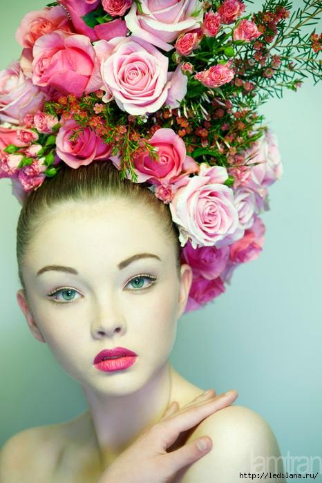женщина цветок- (466x700, 259Kb)