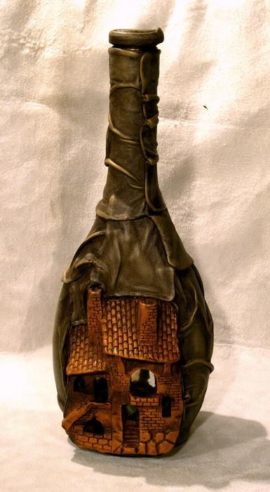 Бутылка из кожи мастер класс