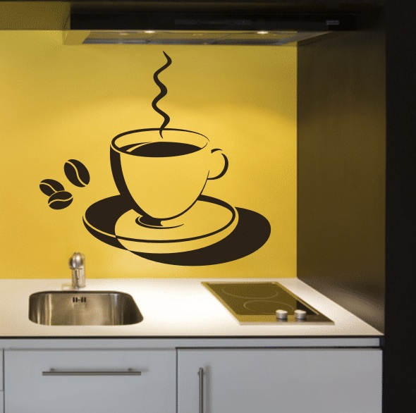 Трафарет на стену кухни