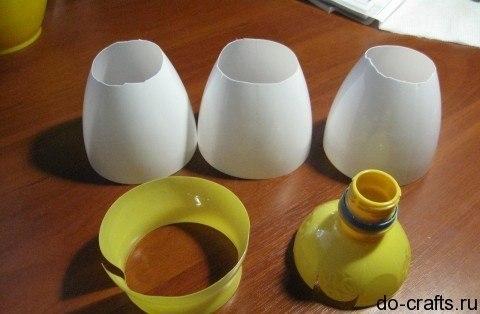Лилия из пластиковой бутылки своими руками мастер