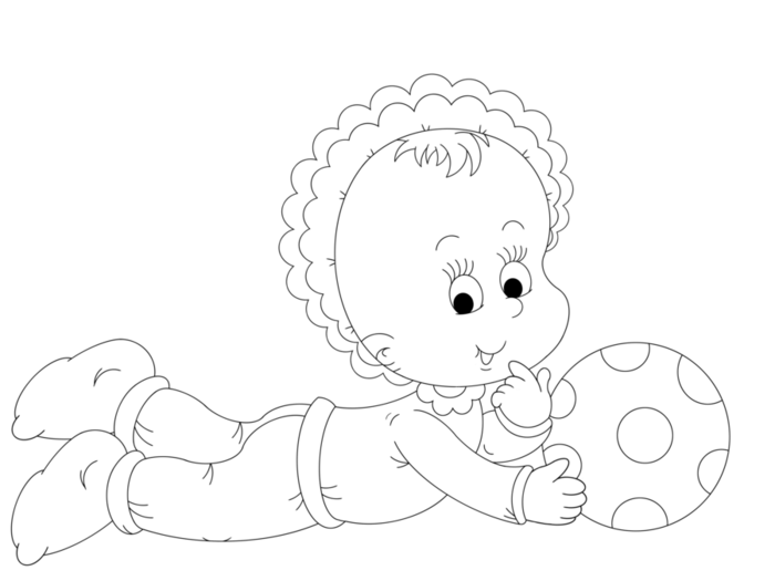 пупсик в чепчике с мячиком (700x525, 45Kb)