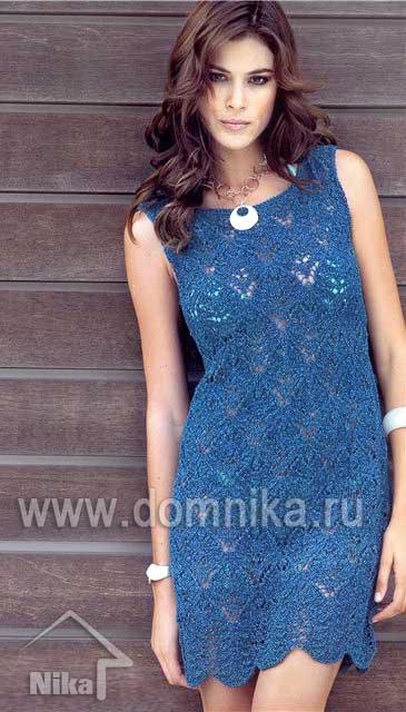 Ажурное платье - Вязание