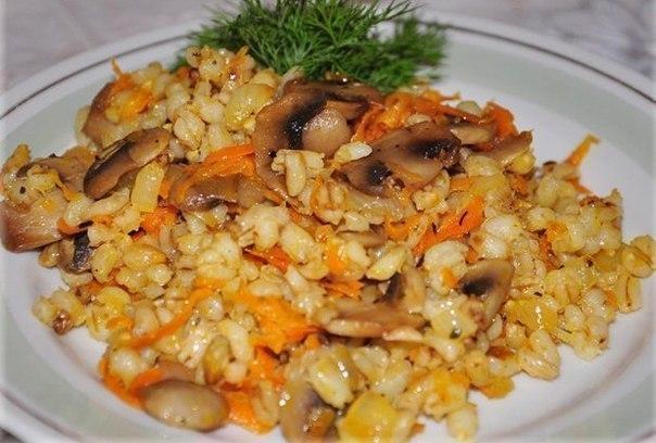Перловая каша с грибами