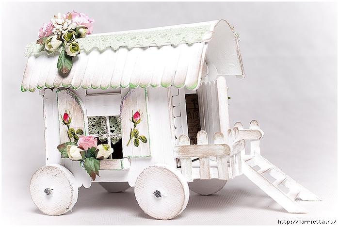 Домик на колесах из картона и палочек от мороженого. МАСТЕР-КЛАСС (3) (700x468, 223Kb)
