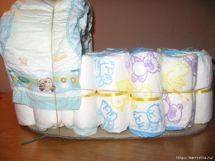 Pour une naissance et pour changer du g teau de couches - Comment realiser un gateau de couches ...