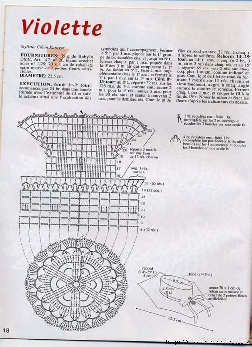 вязание крючком ажурные шляпки (17) (508x699, 270Kb)