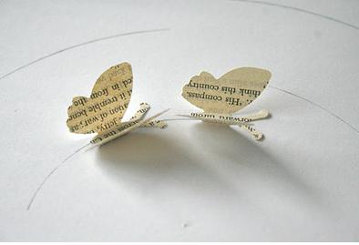 Бумажные бабочки в интерьере. Шаблон бабочки (4) (394x269, 214Kb)