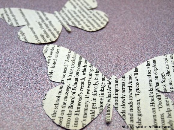 Бумажные бабочки в интерьере. Шаблон бабочки (6) (580x435, 198Kb)